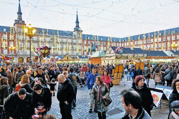 Madrid Yılbaşı Pazarı